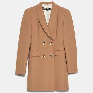 Zara Double Breasted Buttoned Frock Blazer Coat